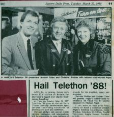 Telethon 1988 - with Michael Aspel & my co-host Christine Webber